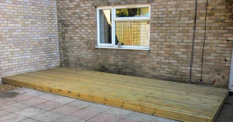 Decking for patios in Hertford